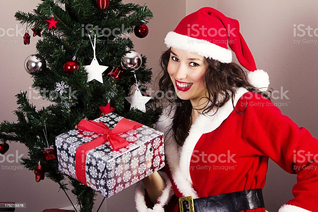 Pretty Mrs.Claus royalty-free stock photo