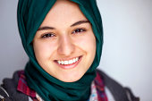 Portrait of a smiling young muslim girl
