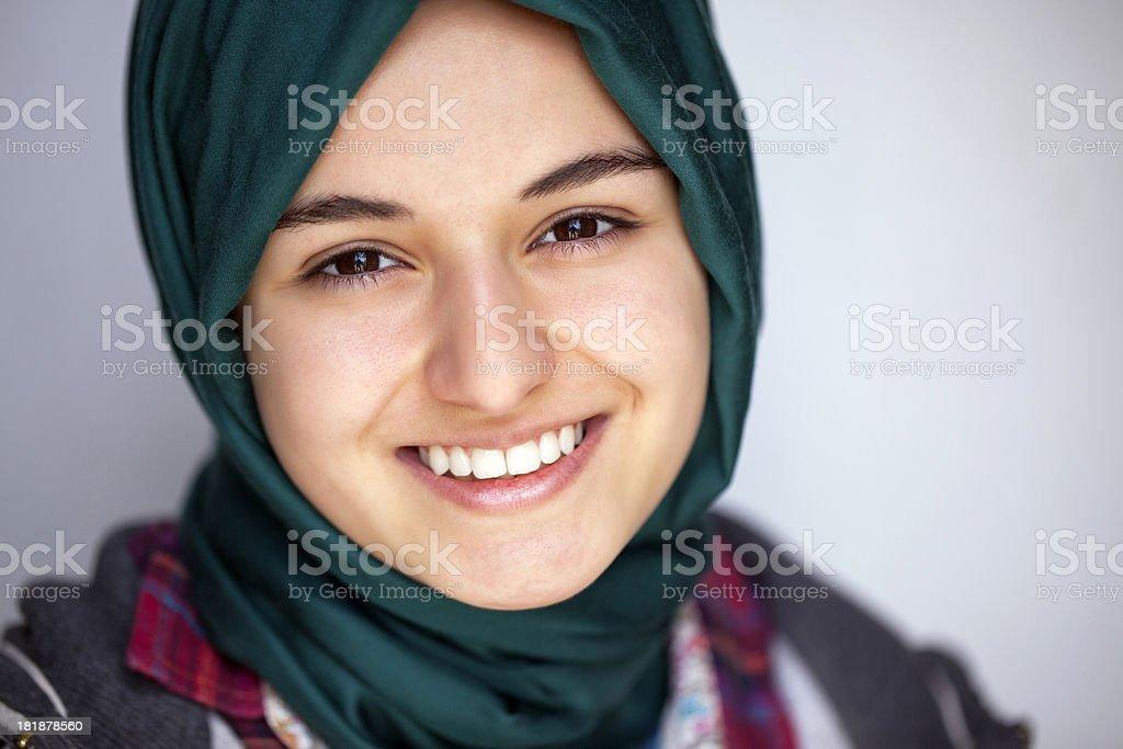 Pretty muslim girl stock photo