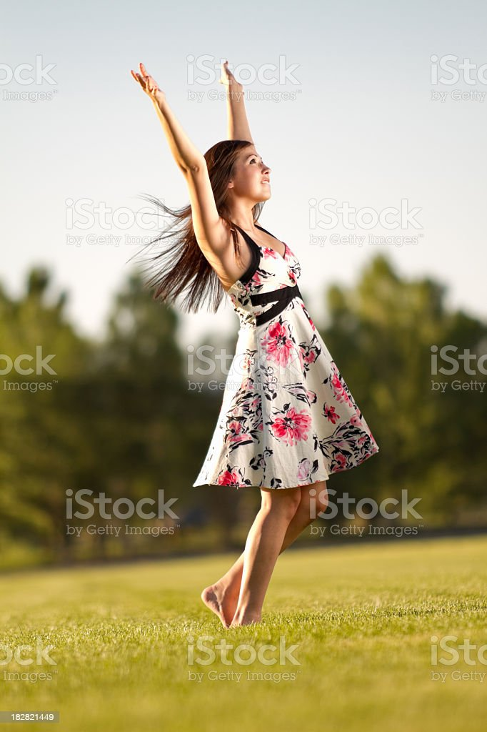 Pretty Native American Girl royalty-free stock photo