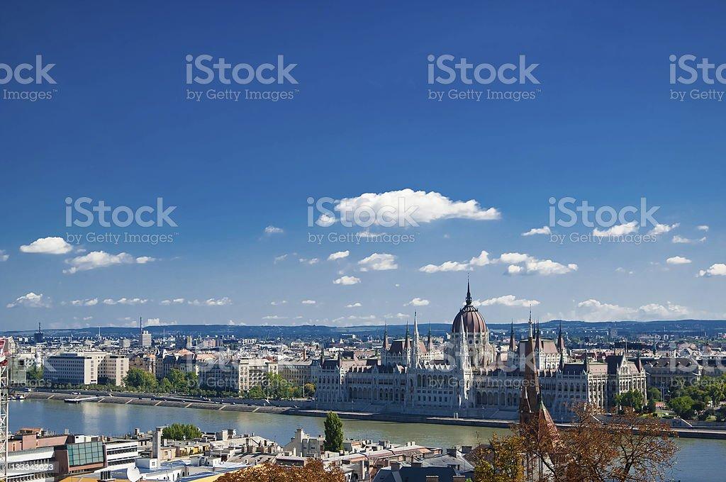 Pretty Panorama of Budapest, Hungary landscape stock photo