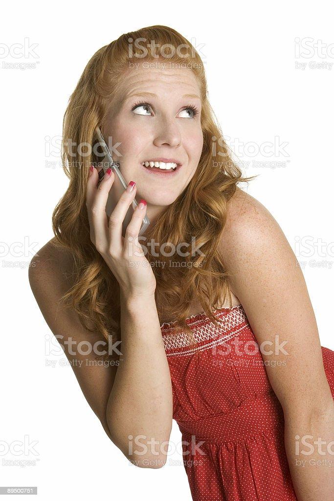 Pretty phone girl royalty free stockfoto