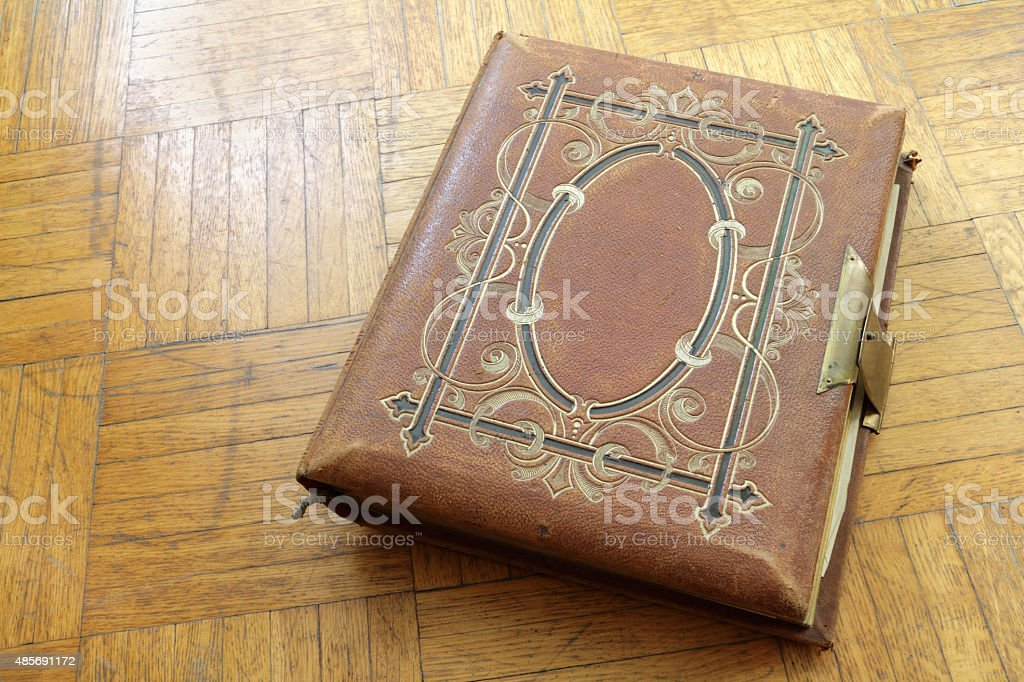 pretty photo album stock photo