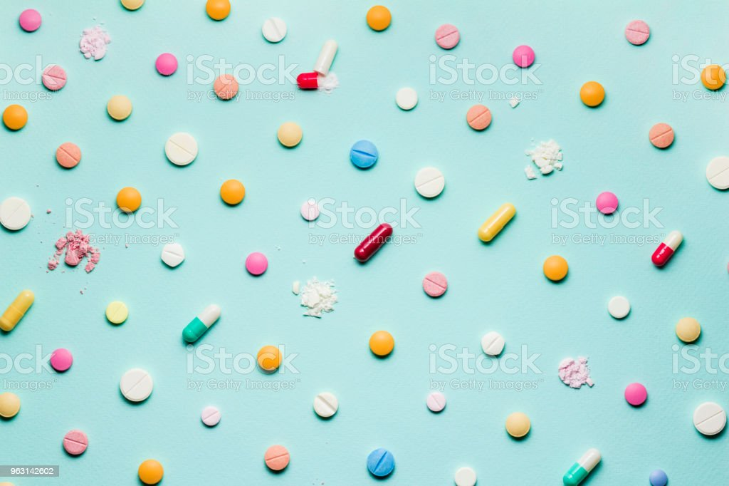 Pretty pills. stock photo