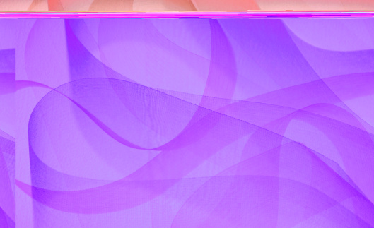 Pink ribbons swirl around in an abstract background.