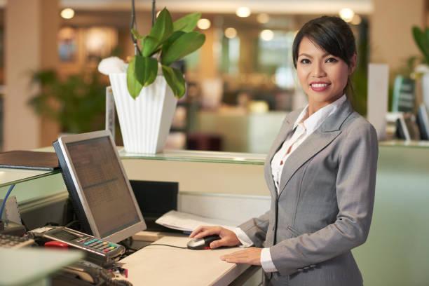 Pretty receptionist stock photo