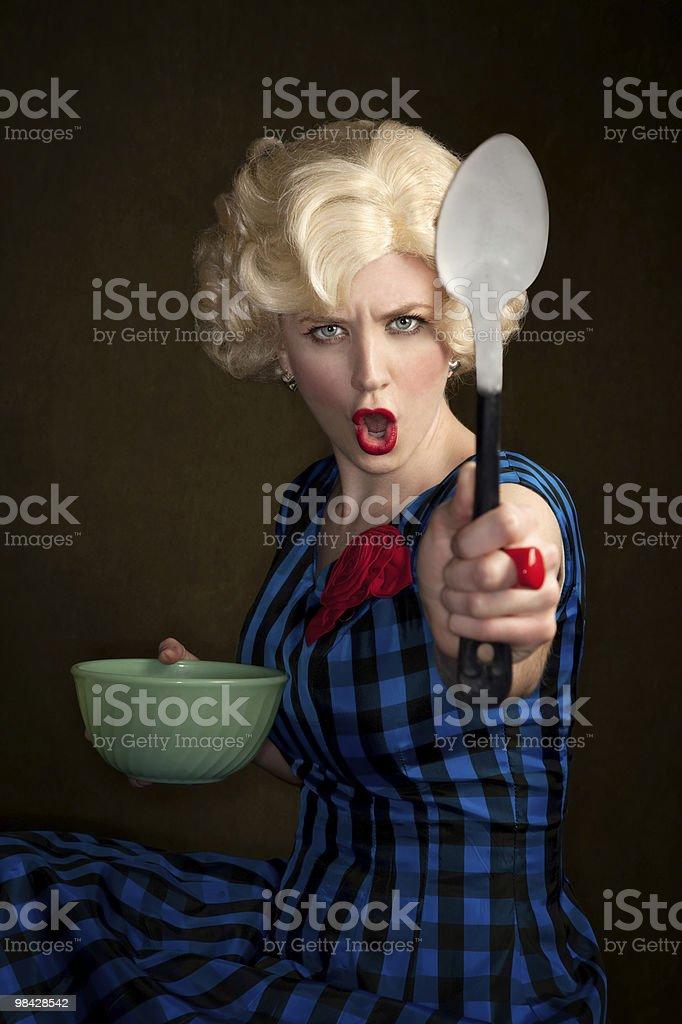 Pretty Retro Blonde Woman royalty-free stock photo