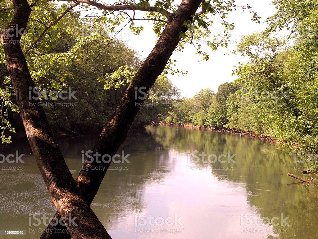 Pretty River View royalty-free stock photo
