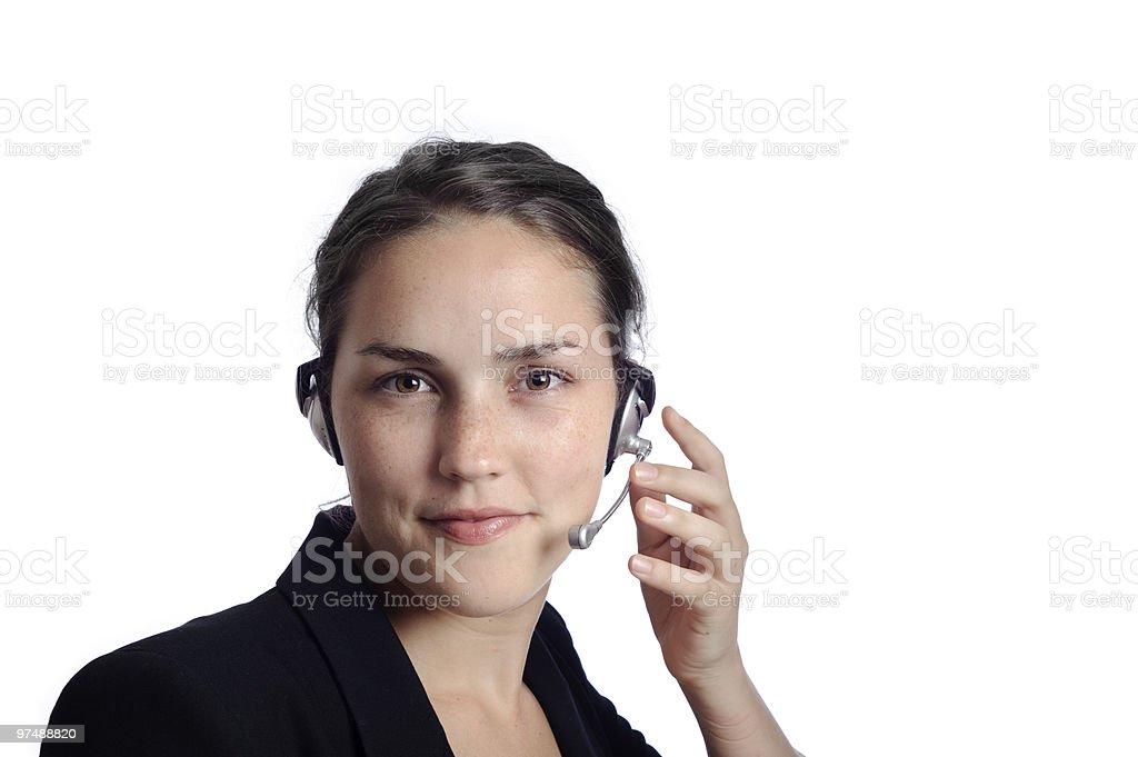 Pretty secretary royalty-free stock photo
