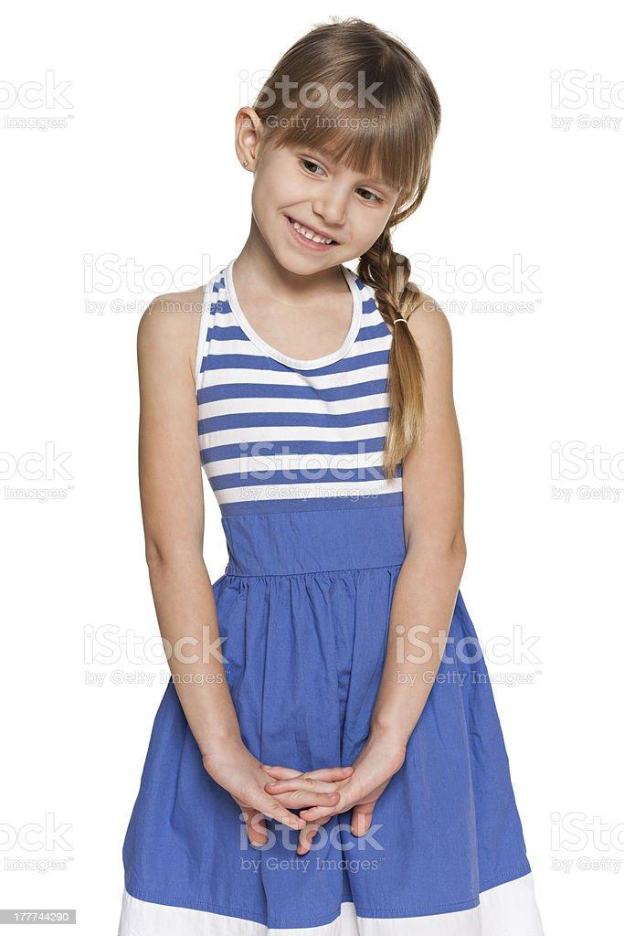 Pretty shy girl royalty-free stock photo