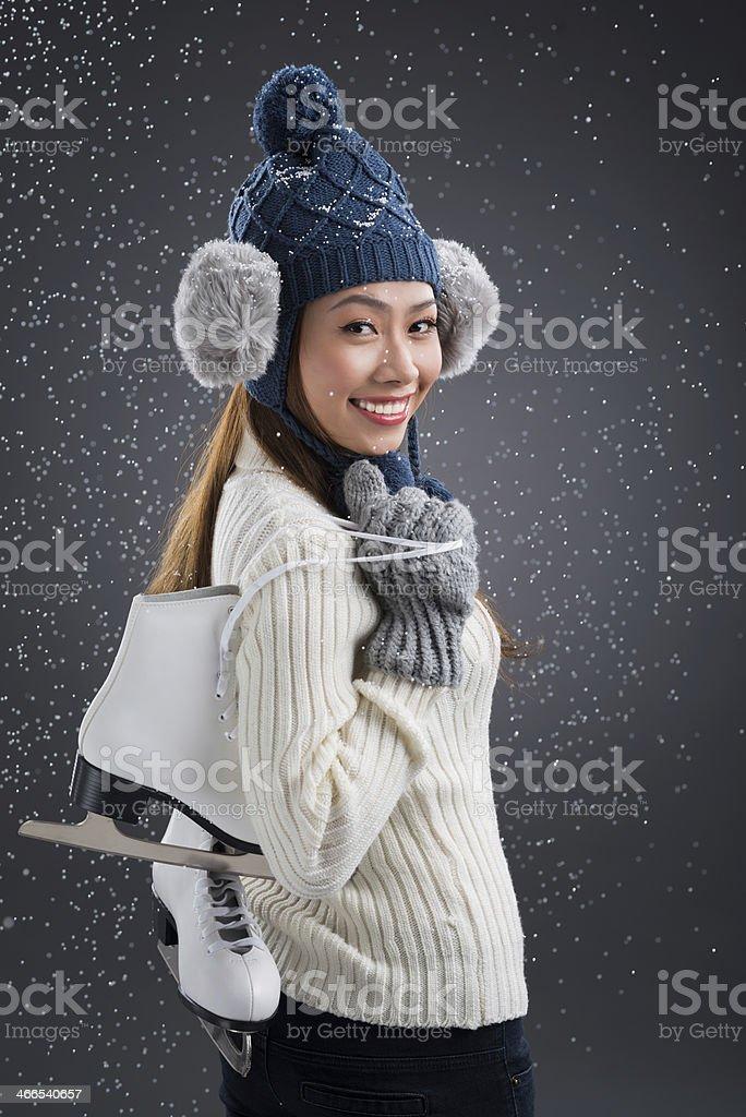 Pretty skater royalty-free stock photo