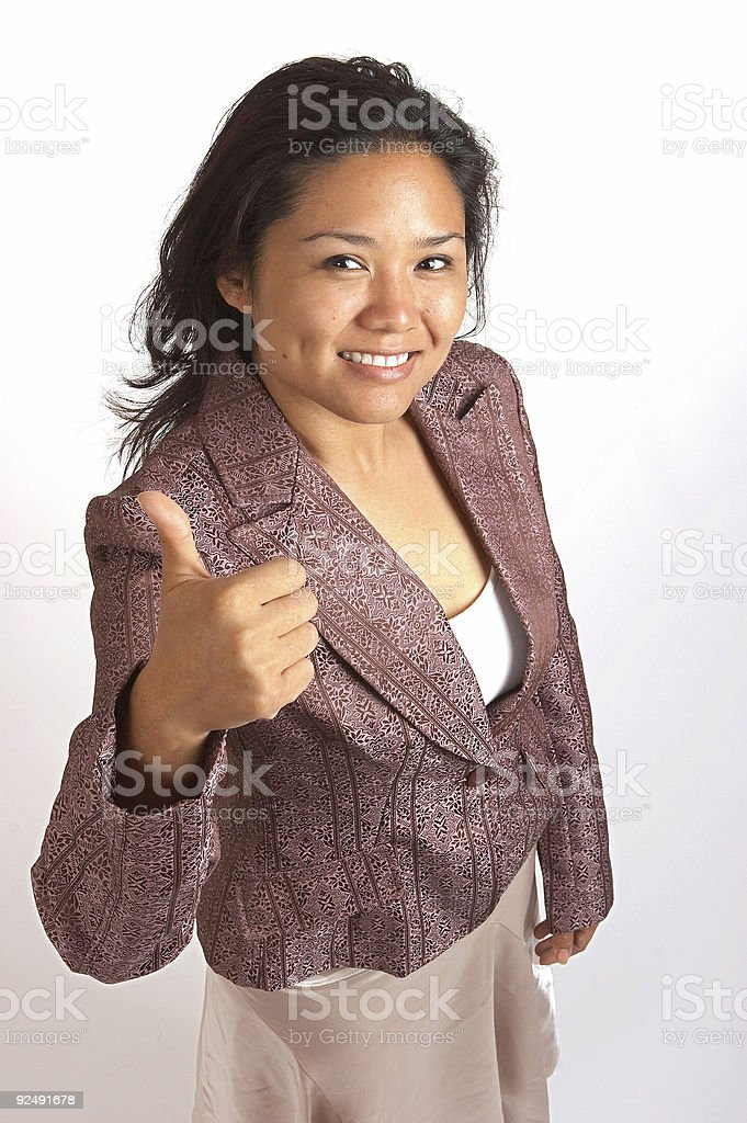 Pretty Smile - thumbs up royalty-free stock photo