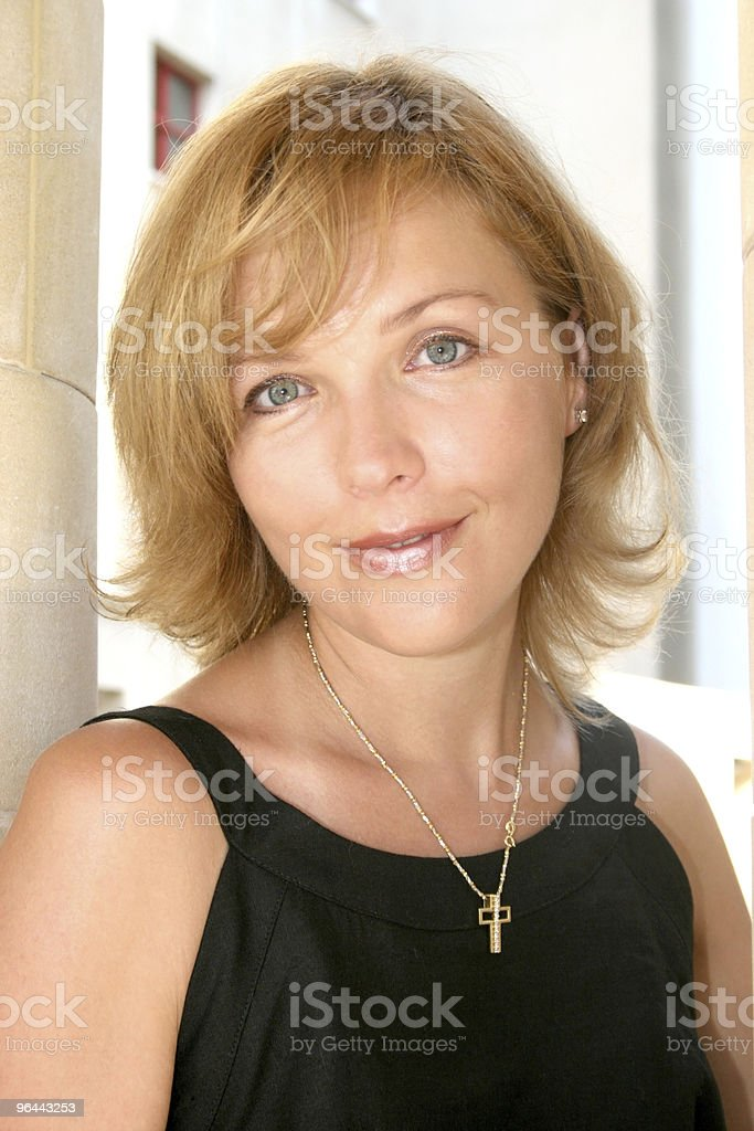Pretty smiling woman - Royalty-free Alleen volwassenen Stockfoto