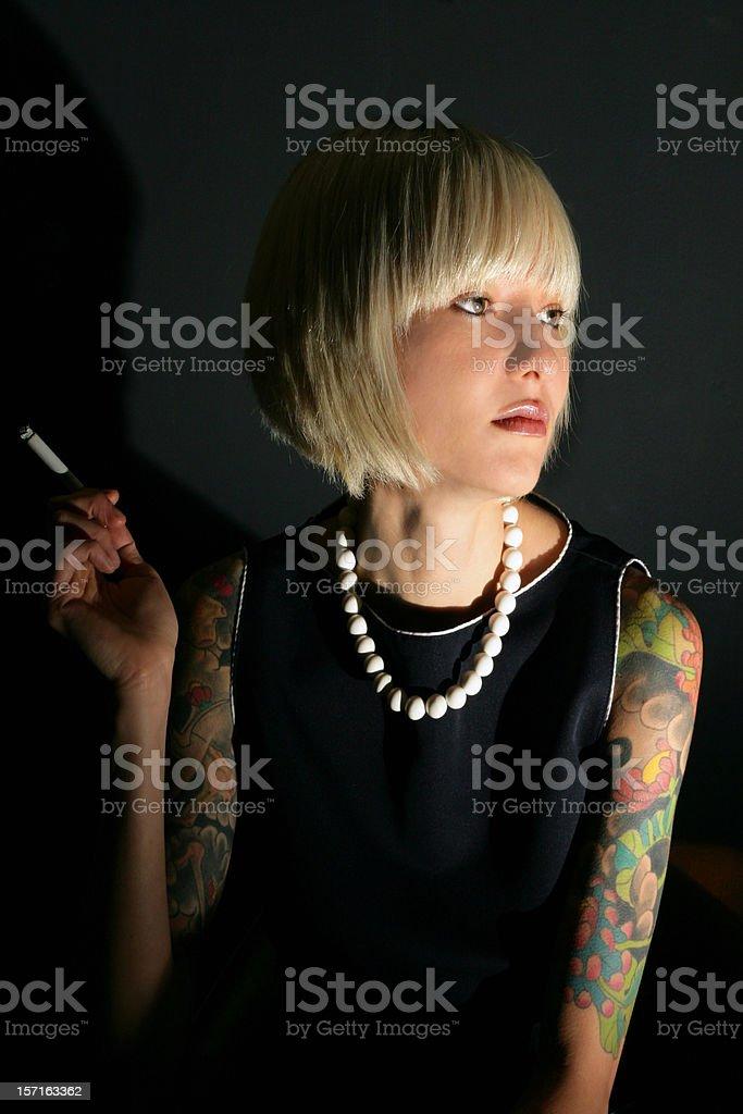 Pretty smoker stock photo