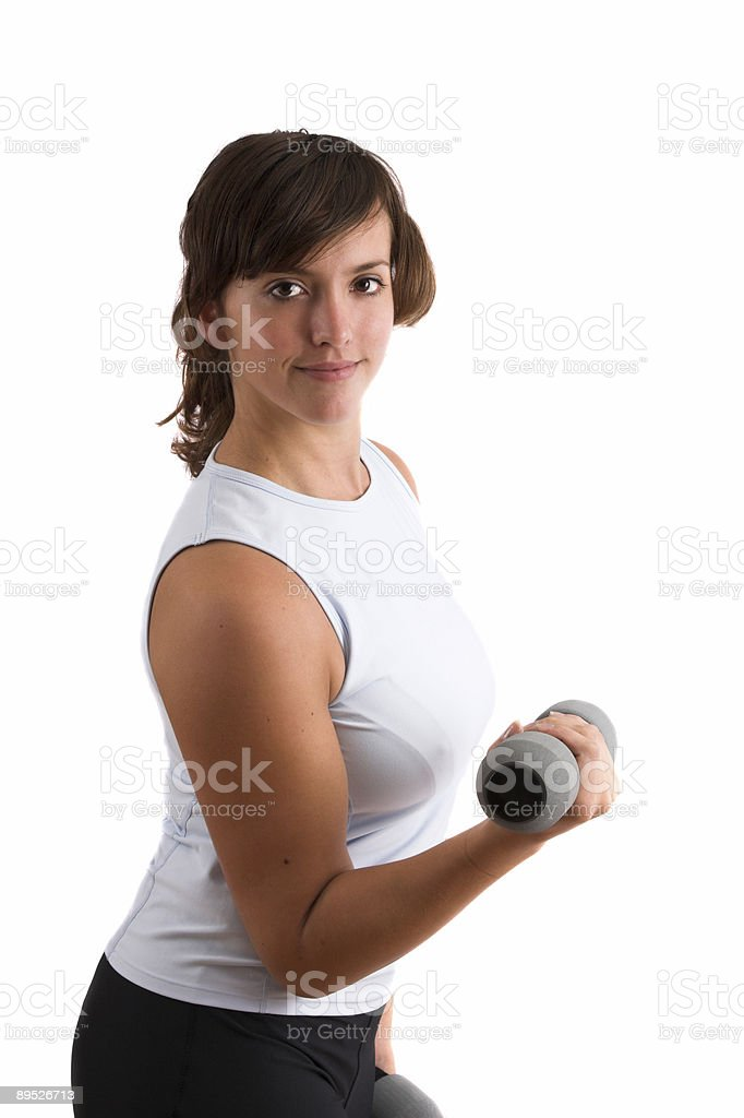 Pretty sporty brunette royalty-free stock photo
