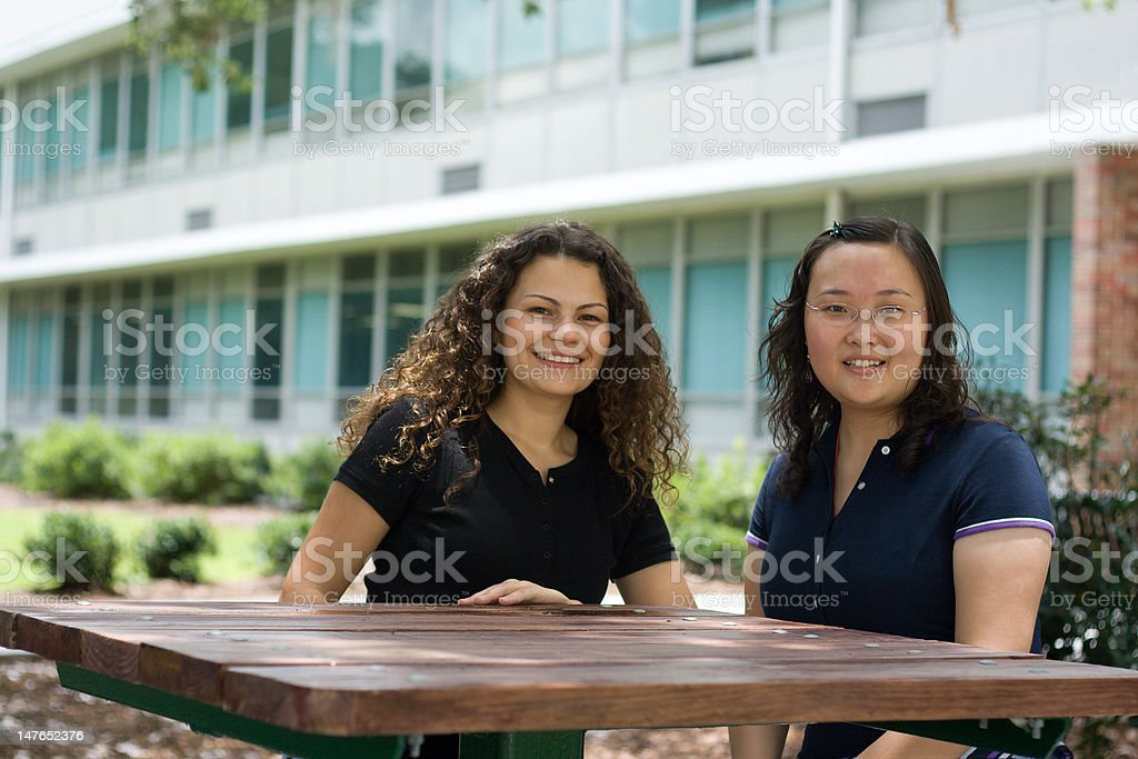 Pretty Students royalty-free stock photo