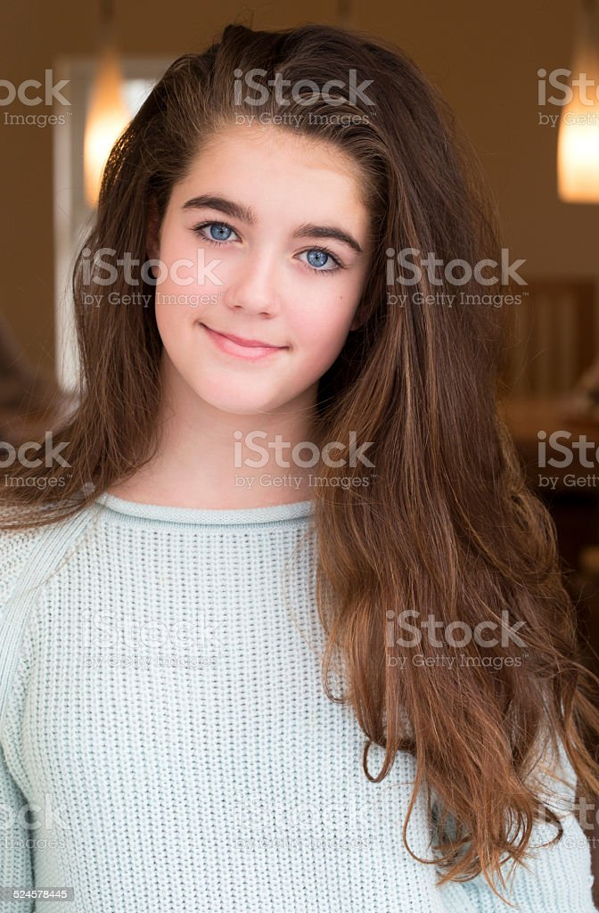 13 Pretty Teen With College: Pretty Teen Girl Stock Photo & More Pictures Of 12-13