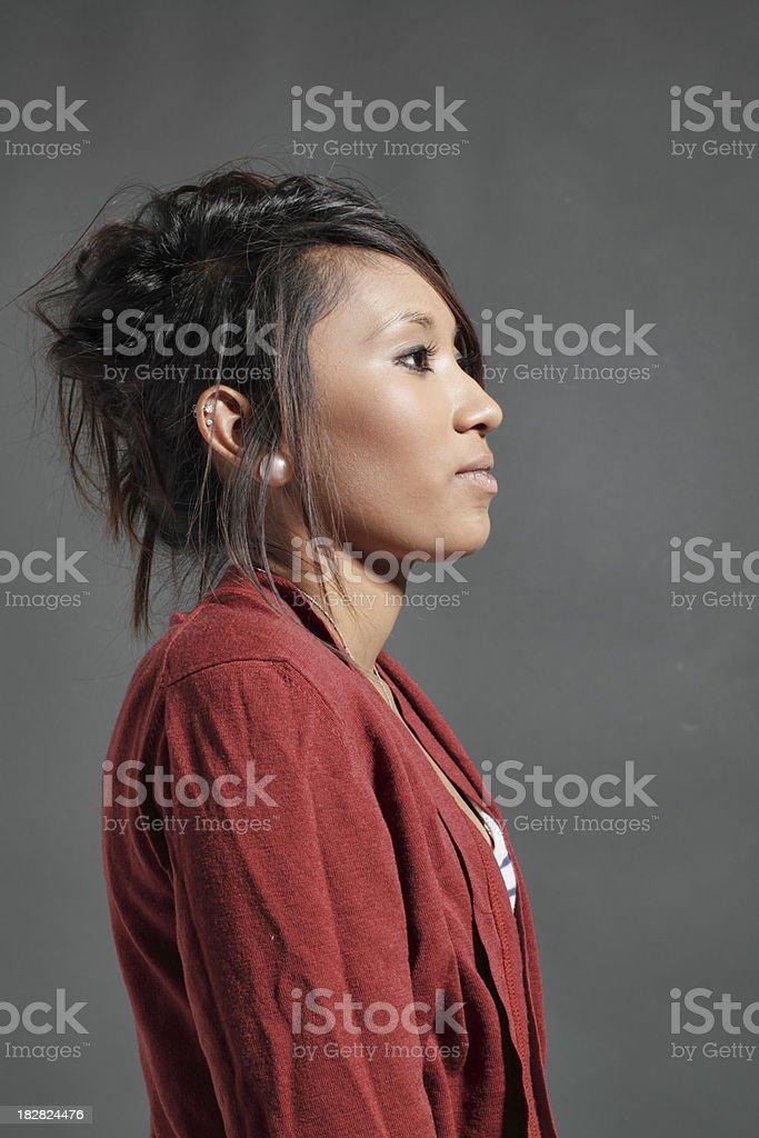 Still portrait of pretty teenager Guyanese girl stock photo