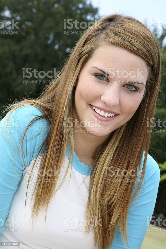 Pretty Teenager stock photo