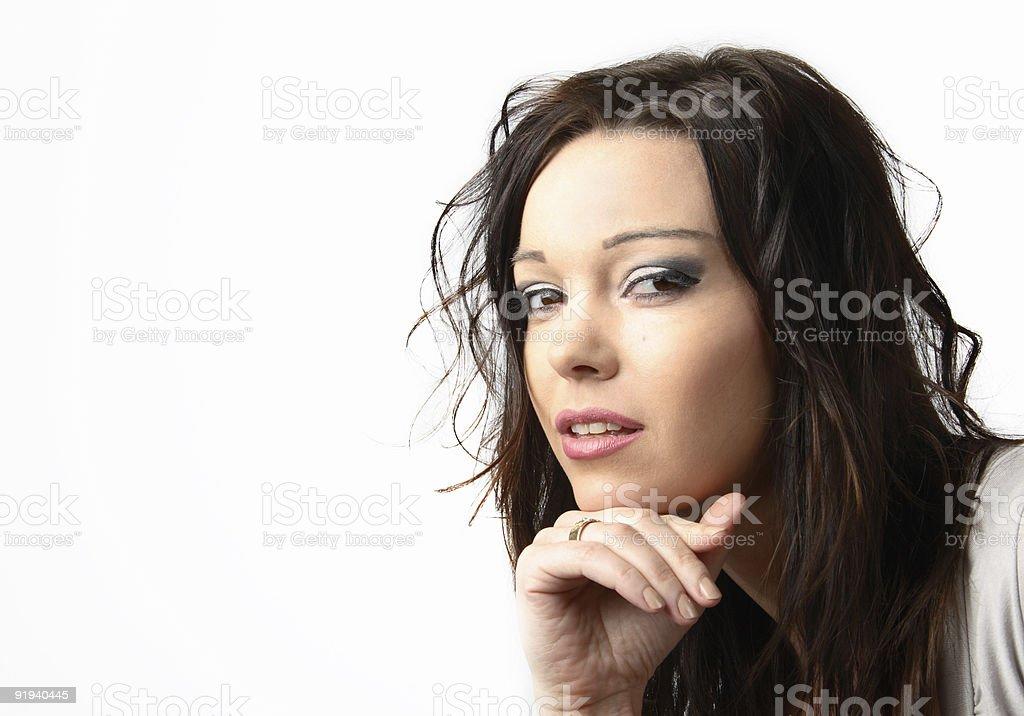 Pretty Thinker royalty-free stock photo