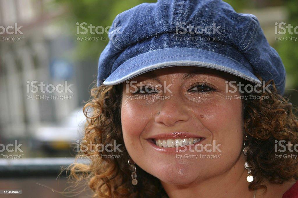 Pretty tunesian girl royalty-free stock photo