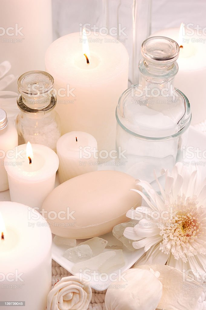 Pretty White Spa 01 royalty-free stock photo