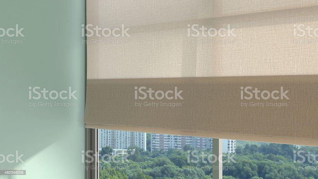 pretty window stock photo