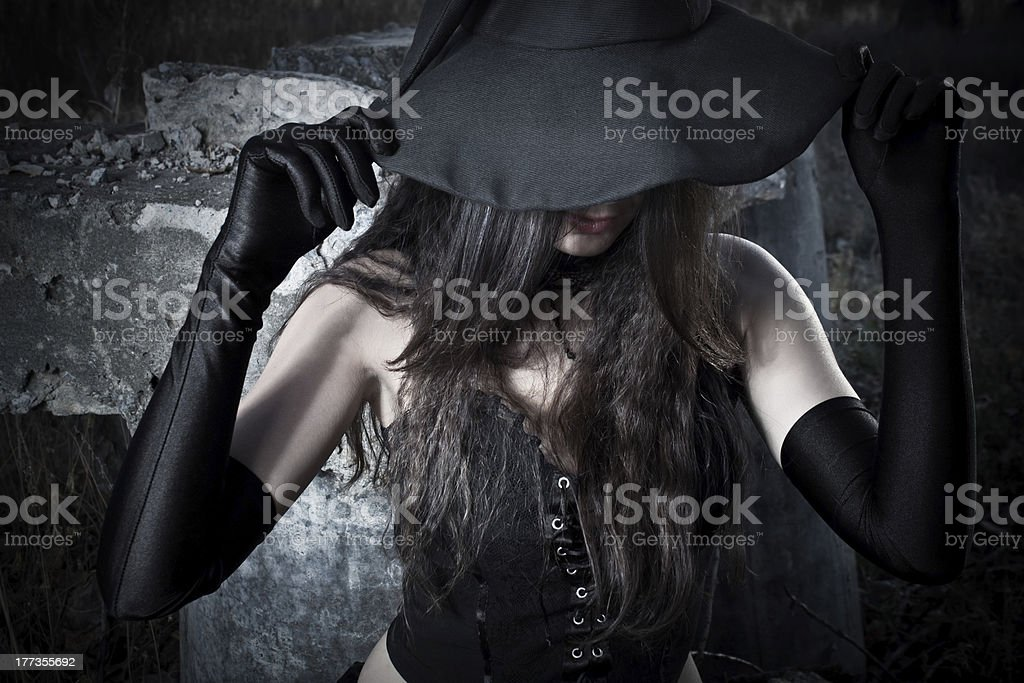 Pretty witch stock photo