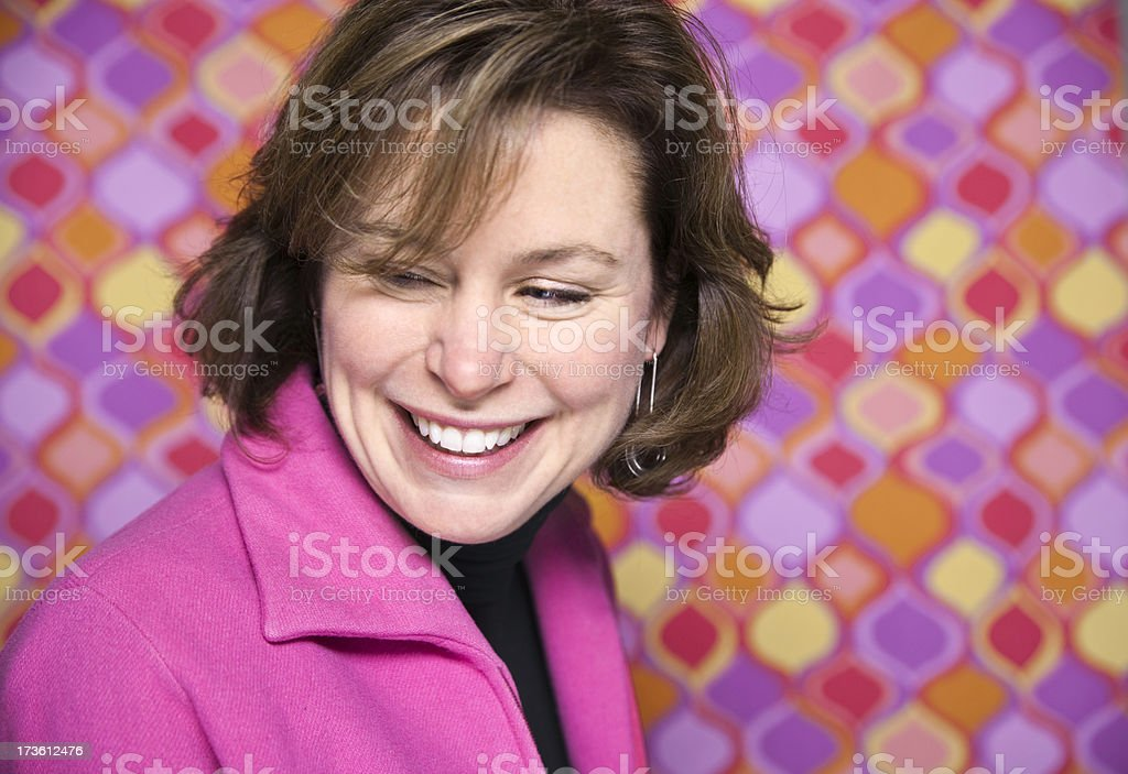 Pretty Woman in Pink royalty-free stock photo
