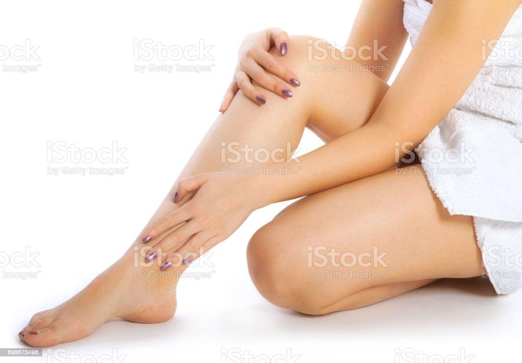 pretty woman legs stock photo