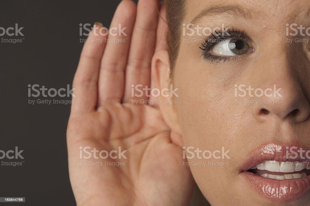 Pretty Woman Listening royalty-free stock photo