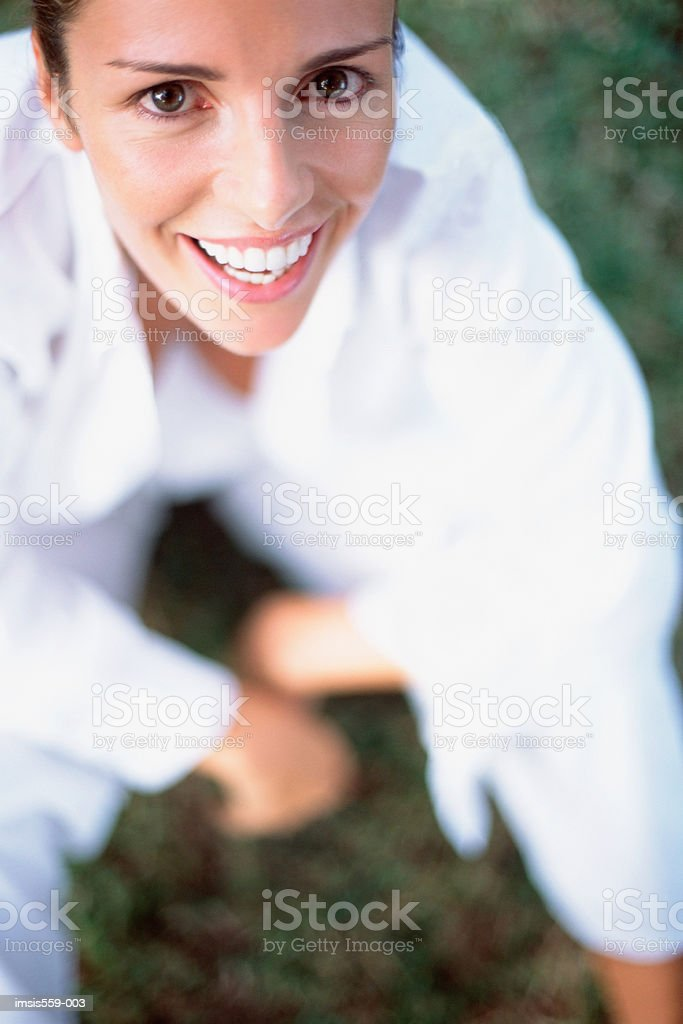 Pretty woman smiling at camera 免版稅 stock photo