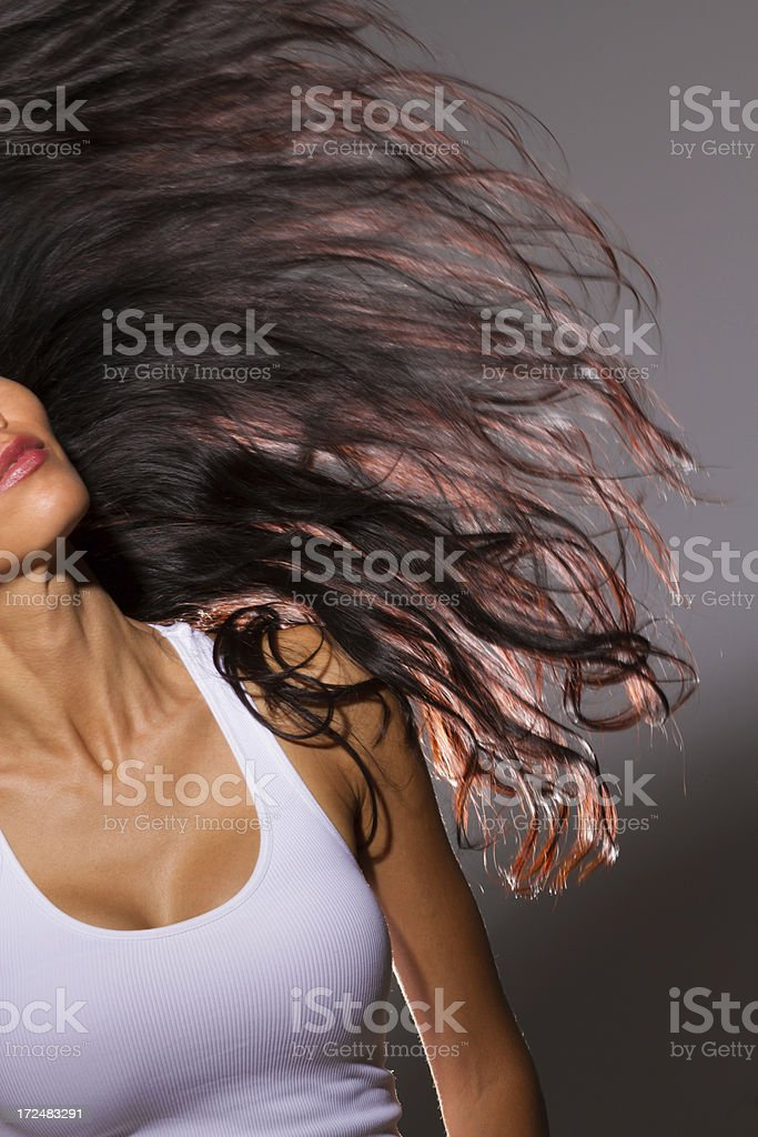 Pretty woman with beautiful hair royalty-free stock photo