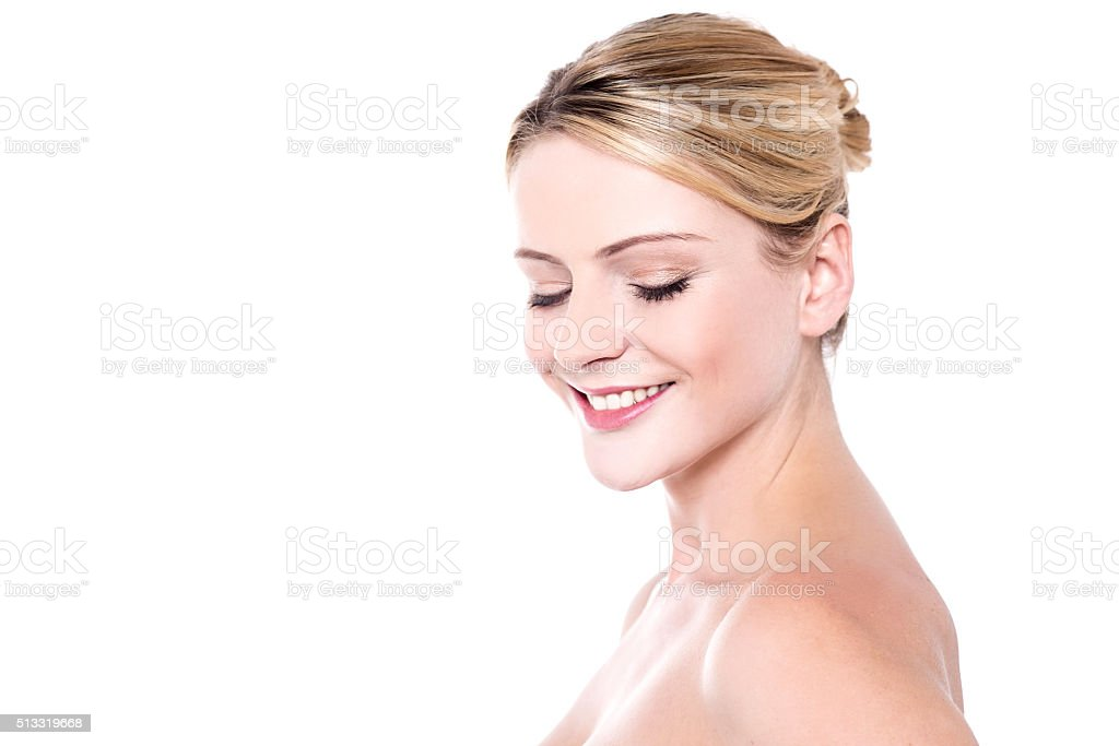 Pretty woman with glowing skin royalty-free stock photo