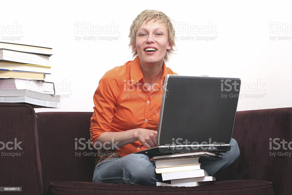 Pretty woman working on laptop no. 4 - Royalty-free Adult Stock Photo