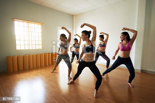 istock Pretty Women Enjoying Dance Class 827892160