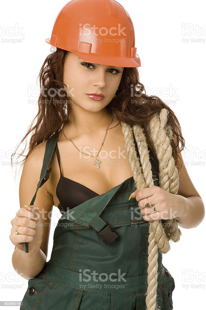 pretty worker royalty-free stock photo