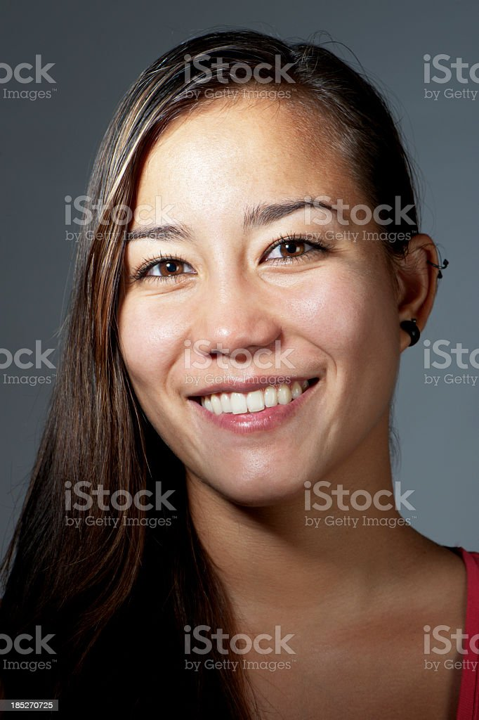 Pretty Young Asian Woman stock photo