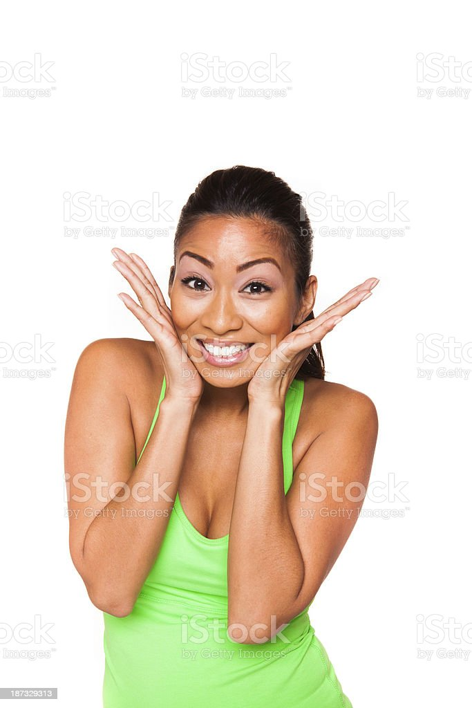 Pretty young athletic woman royalty-free stock photo