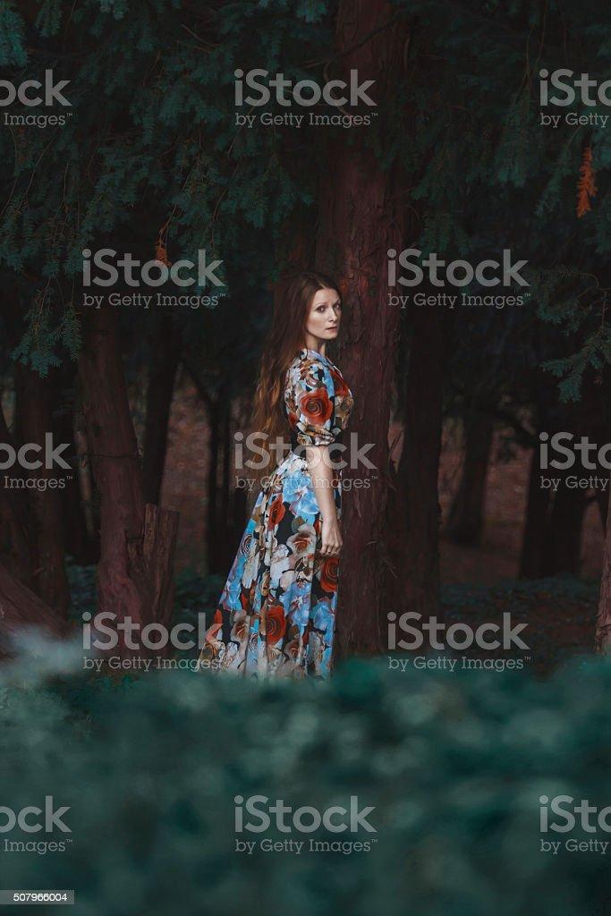 Jolie jeune femme dans la Forêt de Bohème - Photo