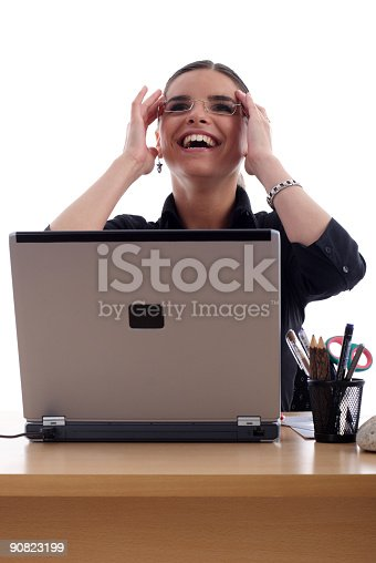 istock Pretty young businesswoman 90823199
