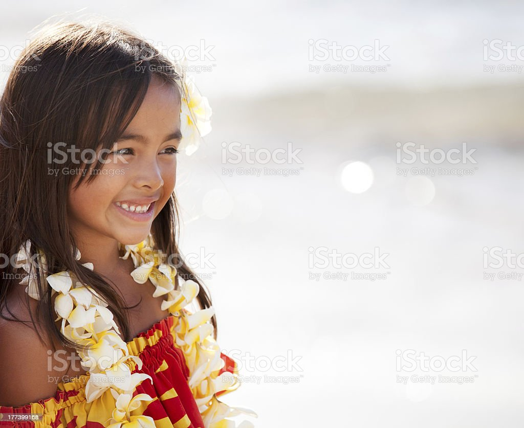 Pretty young girl smiling stock photo