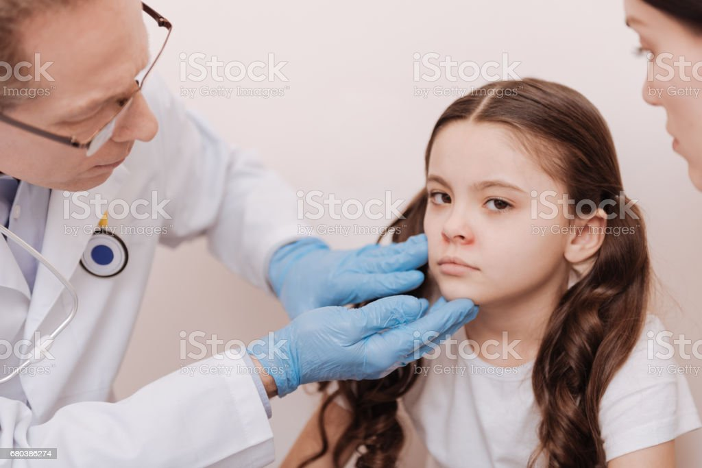 Pretty young lady looking upset royalty-free stock photo
