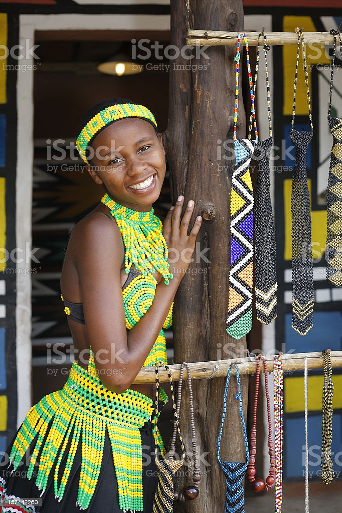 Pretty Young Pedi woman South Africa royalty-free stock photo