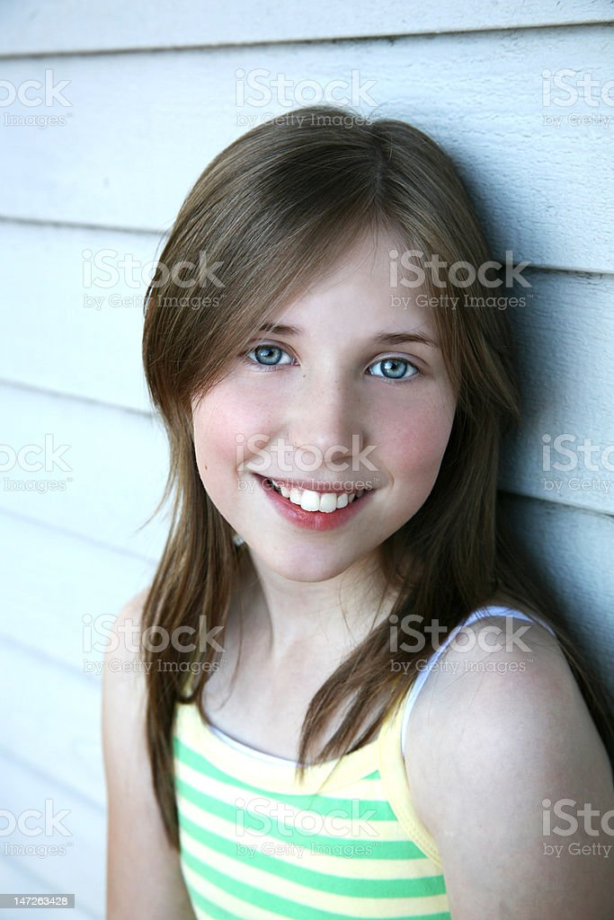 pretty young thing stock photo