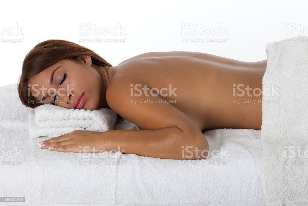 Pretty  Young Woman at Spa stock photo