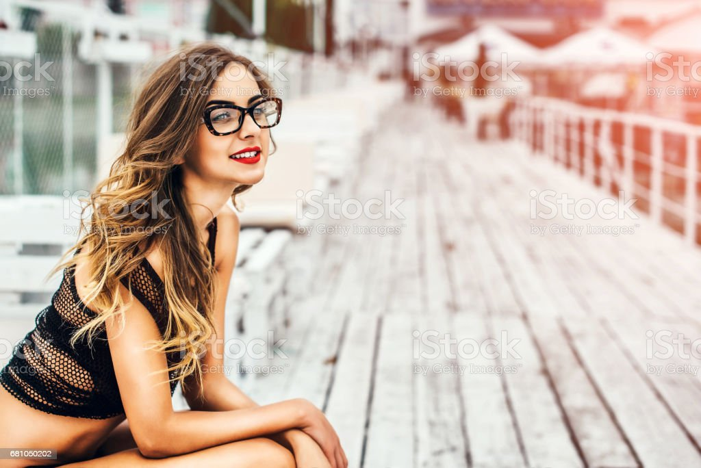Pretty young woman outdoor royalty-free stock photo