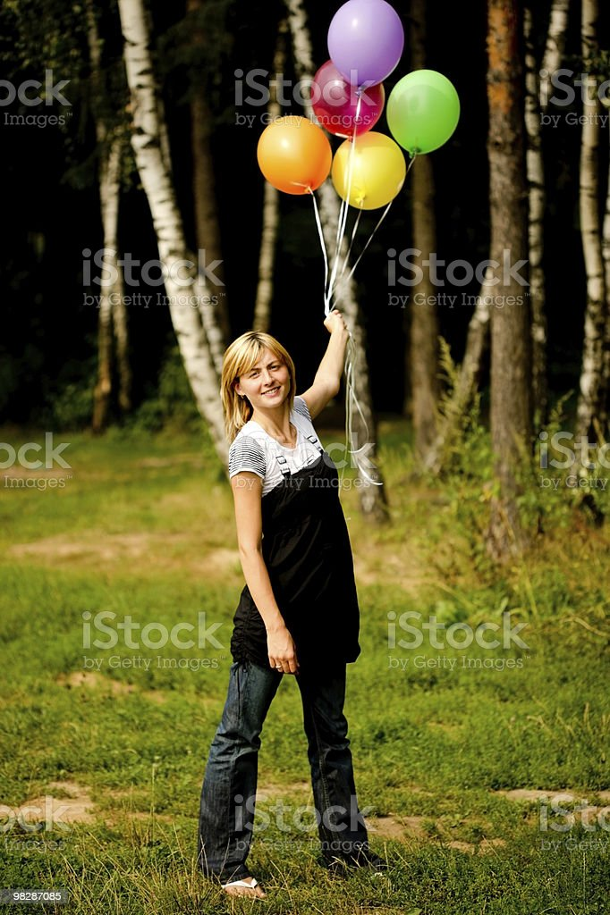 Pretty Young Woman outdoors royalty-free stock photo