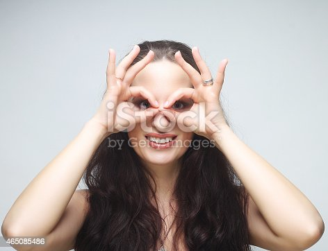 istock Pretty young woman 465085486