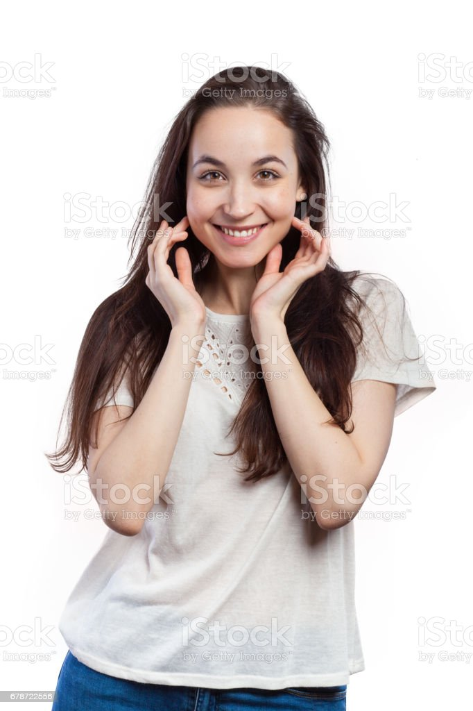 Jolie jeune femme  photo libre de droits